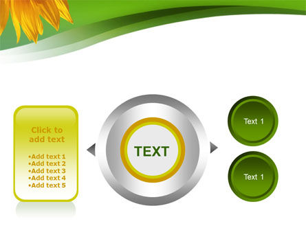 Sunflower In Green PowerPoint Template Slide 12