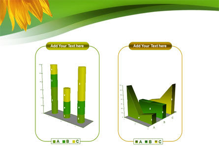 Sunflower In Green PowerPoint Template Slide 13