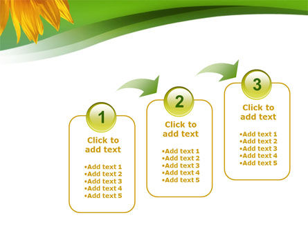 Sunflower In Green PowerPoint Template Slide 14