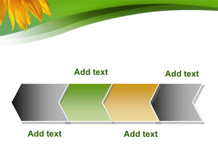 Sunflower In Green PowerPoint Template Slide 16