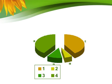 Sunflower In Green PowerPoint Template Slide 17
