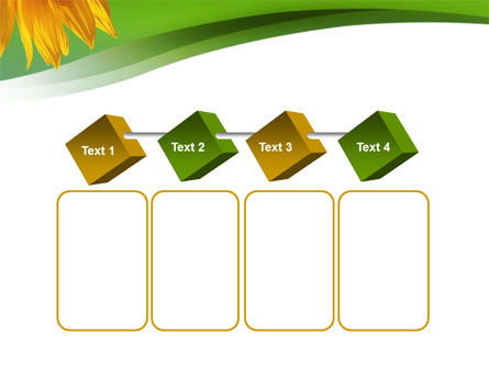 Sunflower In Green PowerPoint Template Slide 18