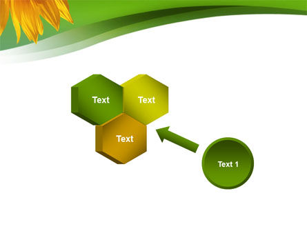 Sunflower In Green PowerPoint Template Slide 19