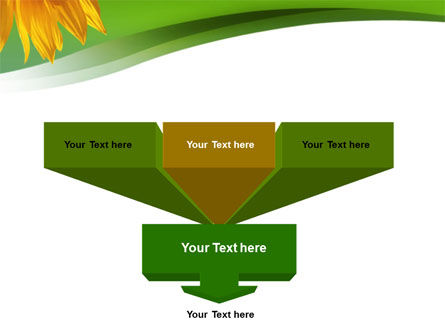 Sunflower In Green PowerPoint Template Slide 3