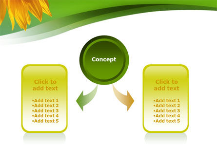 Sunflower In Green PowerPoint Template Slide 4