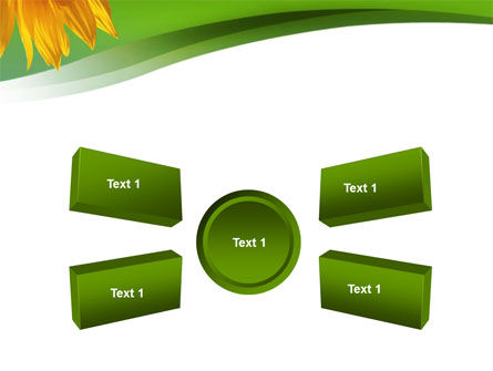 Sunflower In Green PowerPoint Template Slide 6