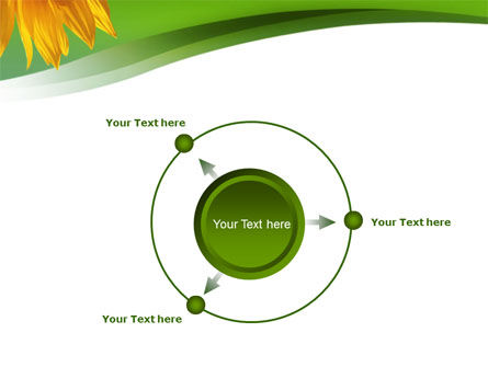 Sunflower In Green PowerPoint Template Slide 7