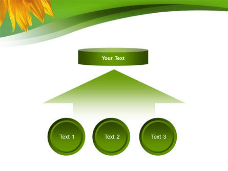 Sunflower In Green PowerPoint Template Slide 8
