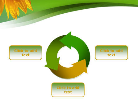 Sunflower In Green PowerPoint Template Slide 9