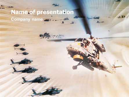 Military: Helikopter PowerPoint Template #01329