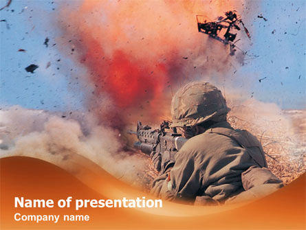 Military: Tegenaanval PowerPoint Template #01330