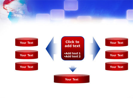 Red & Blue Globe PowerPoint Template Slide 13