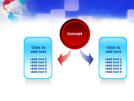 Red & Blue Globe PowerPoint Template Slide 4