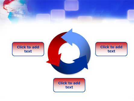 Red & Blue Globe PowerPoint Template Slide 9