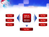 Red & Blue Globe PowerPoint Template#13