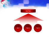 Red & Blue Globe PowerPoint Template#8