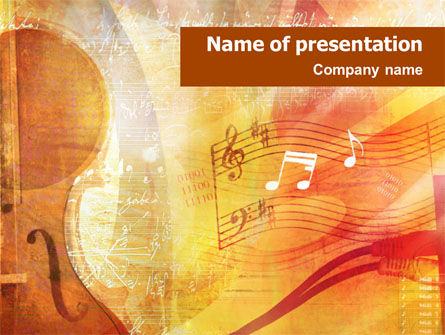 Violin PowerPoint Template, 01332, Art & Entertainment — PoweredTemplate.com