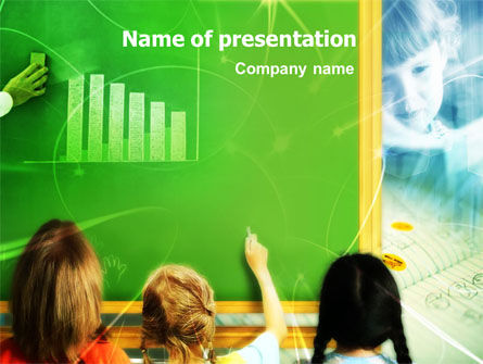 Blackboard In The Sky PowerPoint Template