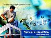 Utilities/Industrial: Modèle PowerPoint de outils pour la réparation de maisons #01336