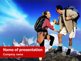 Sports: Templat PowerPoint Climbers #01337