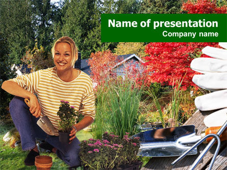Gardening PowerPoint Template, 01338, Nature & Environment — PoweredTemplate.com