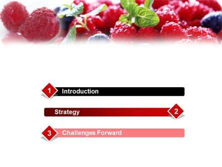 Razz PowerPoint Template, Slide 3, 01339, Food & Beverage — PoweredTemplate.com