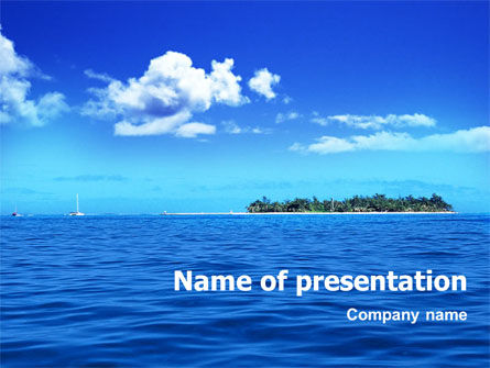 Island in the Sea PowerPoint Template, 01340, Holiday/Special Occasion — PoweredTemplate.com