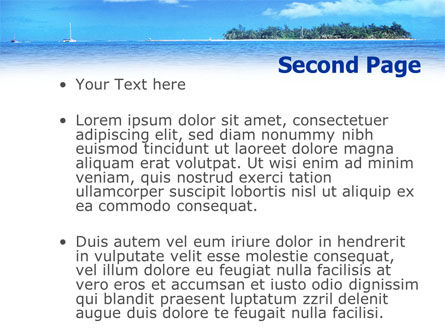 Island in the Sea PowerPoint Template Slide 2