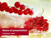 Food & Beverage: Red Currant PowerPoint Template #01341