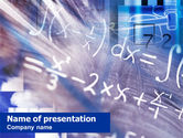 Education & Training: Higher Mathematics PowerPoint Template #01343