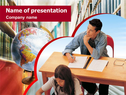 Education & Training: Lesson Of Geography PowerPoint Template #01345