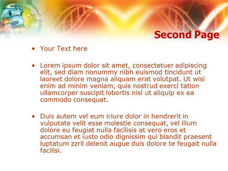 DNA genetics PowerPoint Template, Slide 2, 01350, Medical — PoweredTemplate.com
