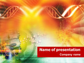 Medical: DNA genetics PowerPoint Template #01350