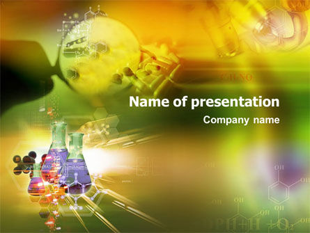 organic chemistry research powerpoint template backgrounds 01351