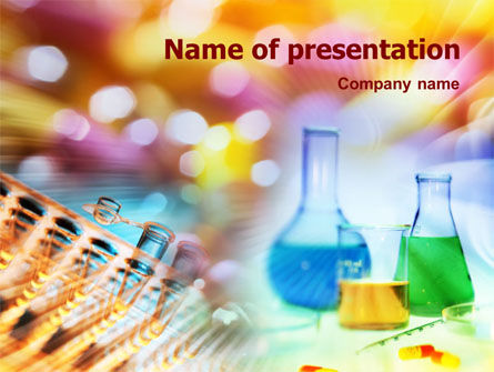 Technology and Science: Pharmaceutical Chemist Tests PowerPoint Template #01352