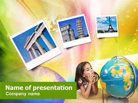 Education & Training: Geographic World of Wonders PowerPoint Template #01353