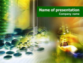 Technology and Science: Pharmacology Lab PowerPoint Template #01354