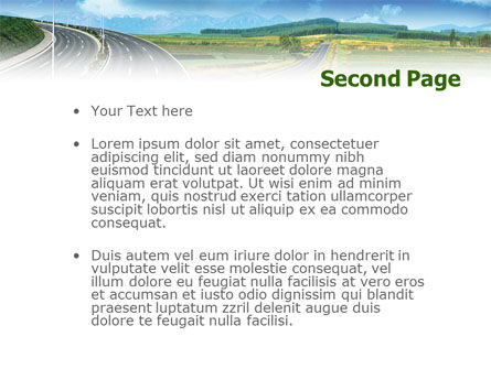 Highway Under Blue Sky PowerPoint Template Slide 2