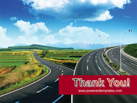 Highway Under Blue Sky PowerPoint Template Slide 20