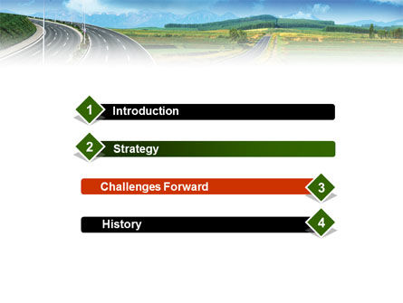 Highway Under Blue Sky PowerPoint Template Slide 3