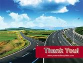 Highway Under Blue Sky PowerPoint Template#20