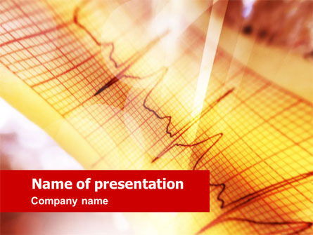 Medical: Cardiogram PowerPoint Template #01359
