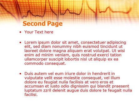 Cardiogram PowerPoint Template, Slide 2, 01359, Medical — PoweredTemplate.com