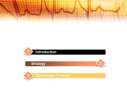 Cardiogram PowerPoint Template, Slide 3, 01359, Medical — PoweredTemplate.com