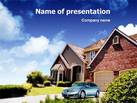 Real Estate: Suburban Cottage PowerPoint Template #01361