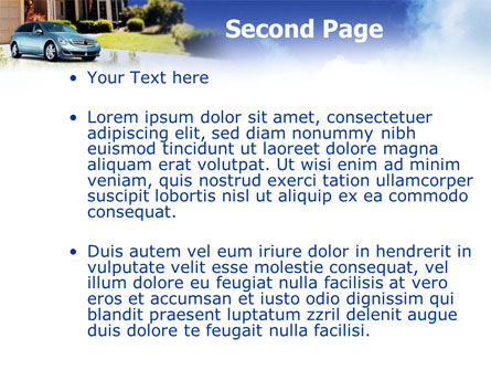 Suburban Cottage PowerPoint Template, Slide 2, 01361, Real Estate — PoweredTemplate.com