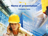 Careers/Industry: Architectural Supervision PowerPoint Template #01362