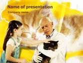 Animals and Pets: Modello PowerPoint - Ospedale veterinario #01363