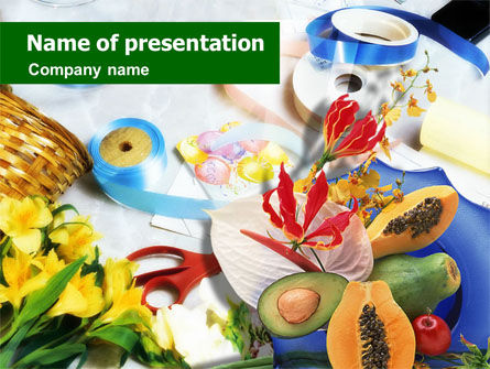 Holiday/Special Occasion: Flower Ornamentation PowerPoint Template #01364