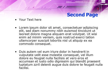 Lilac Space PowerPoint Template Slide 2